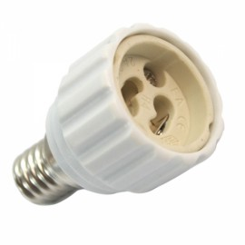 E14 to GU10 Halogen LED Light Lamp Bulbs Adapter Converter