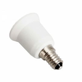 E14 to E27 Light Bulbs Adapter Converter - White