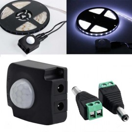 Automatic Infrared PIR Motion Sensor Switch for LED Strip Light - Black