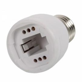 E27 to G24 Converter White
