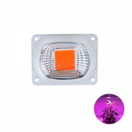 High Power 30W Full-spectrum COB LED Grow Light Chip with Lens for Floodlight AC220V
