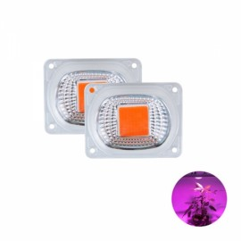 High Power 50W Full-spectrum COB LED Grow Light Chip with Lens for Floodlight AC220V
