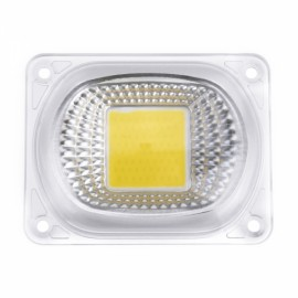 High Power 50W White LED COB Light Chip with Lens for DIY Flood Spotlight AC220V