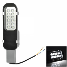 G4 24W 12-LED 1800lm 6500K White Light Street / Depot / Yard Lamp Black & Grey (85-265V)