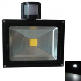 Outdoor 10W Motion Sensor Light PIR Projection Lamp - Cold White