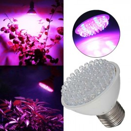 E27 5W 60-LED High Efficiency Plant Grow Lamp Hydroponic (AC 180-240V)