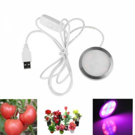 Ultrafire 4W 12-LED USB Plant Grow Light Full Spectrum Hydroponics Red & Blue