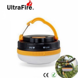 UltraFire 5 Modes 3-LED Ultra Brightness Magnetic Light Black & Yellow & White