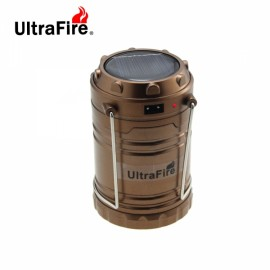 5W 200LM Ultrafire Portable Solar Charging Emergency Lighting LED Camping Lantern Lamp Bronze