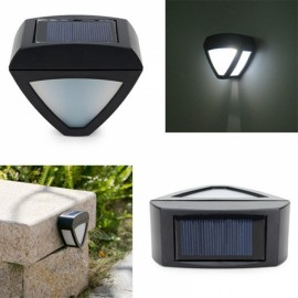 Garden Solar Power LED Light Outdoor Courtyard Waterproof Aisle Lamp Black