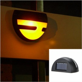Waterproof 2-LED Solar Power Light Outdoor Fence Wall Lamp Warm White Light