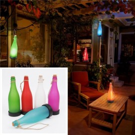 5pcs Home Decoration Cork Wine Bottle Solar Garden Light Sense LED Hanging Lamp Party Courtyard Patio Pathway Red & Green & Blue & Purple & White