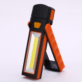 Powerful Dual Magnet Battery Operated LED COB Work Light Tent Camping Lamp Orange