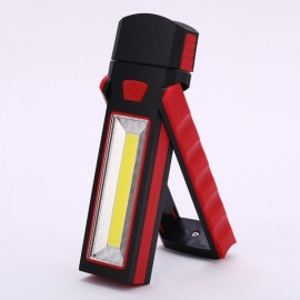 Powerful Dual Magnet Battery Operated LED COB Work Light Tent Camping Lamp Red