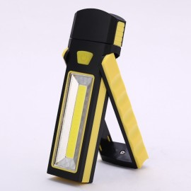 Powerful Dual Magnet Battery Operated LED COB Work Light Tent Camping Lamp Yellow
