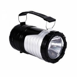 2 in 1 Portable Shockproof Solar Camping Light LED Lantern Black