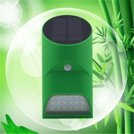 Bamboo Tube Shape 18-LED Solar Lamp PIR Motion Sensor Lamp Green