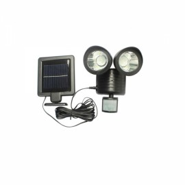 22 LEDs Rotatable Dual Head PIR Motion Sensor Solar Light Garden Lamp