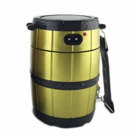 Retractable Camping Tent Solar Lantern Outdoor Portable Emergency LED Light Lamp Golden