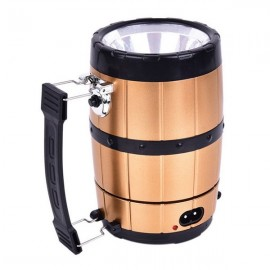 SH-518 Retractable Camping Tent Solar Lantern Outdoor Portable Emergency LED Light Lamp Bronze