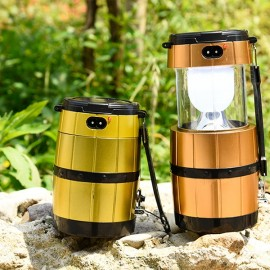 SH-518 Retractable Camping Tent Solar Lantern Outdoor Portable Emergency LED Light Lamp Golden