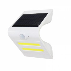 2 LED COB Motion Sensor Solar Light Outdoor Wireless Wall Lamp Solar Energy Power Lamp White Shell & Red Atmosphere