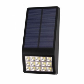 Ultra Thin Solar 16-LED Waterproof Lamp Radar Microwave Light Sensor Black