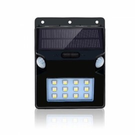 Dual Waterproof Motion Sensor Solar LED Lights with 12 RGBW LEDs for Garden Black
