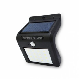 Solar 16 LED PIR Motion Light Sensor Wall Lamp Waterproof Outdoor Black