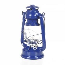 25CM Mediterranean Style Wrought Iron LED Kerosene Alcohol Lamps Portable Lantern Navy