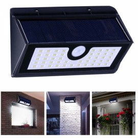 45 LED Solar Powered Panel Motion Sensor Outdoor Garden Wall Light