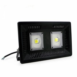 100W IP65 Waterproof Anti-thunder Temperature Control Ultrathin LED Flood Light White (AC170-300V)
