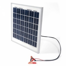10W 12V Semi Flexible Solar Panel Battery Charger with Clip