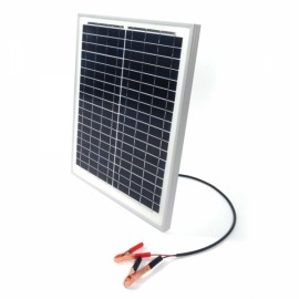 20W 12V Semi Flexible Solar Panel Battery Charger with Clip