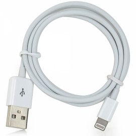 1M MFi Power4 Colored 8-Pin to USB 2.0 Charge Sync Data Cable for iPhone/iPad/iPod White