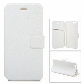 "Voltage Ripple Pattern Protective PU Flip-Open Case with Stand & Card Slot for 4.7"" iPhone 8 White"