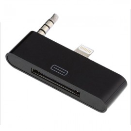 8-Pin to 30-Pin Adapter Converter Audio Dock for iPhone 6 Plus Black