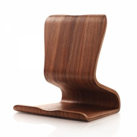 Creative Tablet PC Wooden Bracket Holder Scaffold Dark Wood Color