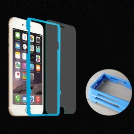 Full Cover Tempered Glass Screen Film Aid Case Assist Device for iPhone 6/6S Blue