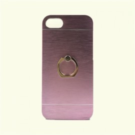 Ultra Thin Finger Ring Stand Holder Aluminum Case Cover for iPhone7 Pink