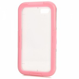 Ultra thin Waterproof Diving Protective Case w/ Strap for iPhone 7 Pink
