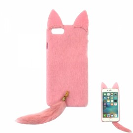 """Fox Shaped Back Case Protective Shell for 4.7"""" iPhone 7 Pink"""