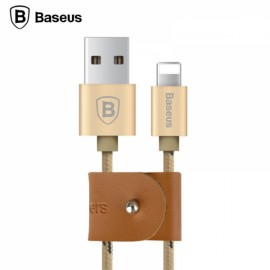 Baseus 1M 2A Cable Nylon TPE Braided Fast Data Sync Charging Cable for Apple iPhone Golden