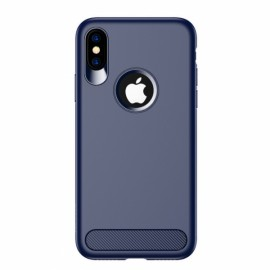 USAMS Anti-fingerprint Soft TPU Muze Matte Case for iPhone X  - Blue