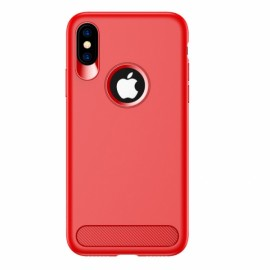 USAMS Anti-fingerprint Soft TPU Muze Matte Case for iPhone X  - Red