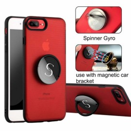 Creative Gyro Spinner Kickstand Ring Holder Case Cover for iPhone X Red