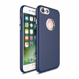 Metallic Paint Buttons TPU Non-slip Soft Case for iPhone 7/8 Blue