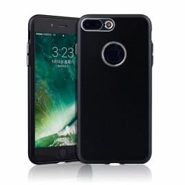 Slim TPU Soft Phone Case Metallic Paint Buttons for iPhone 7/8 Plus Black