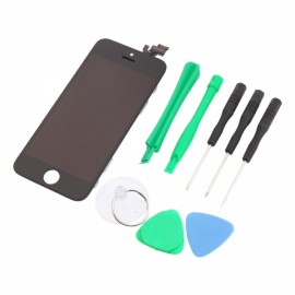 LCD Touch Screen Replacement Digitizer Assembly for iPhone 5 + Tools Set Black