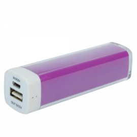 2800mAh Lipstick Shape Mobile Power Pack for iPhone/iPod/iPad Purple